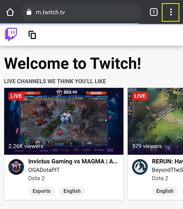 Accessing Twitch