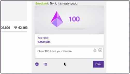 cheer in stream chat