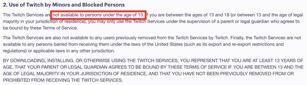 how old do you have to be to stream on twitch