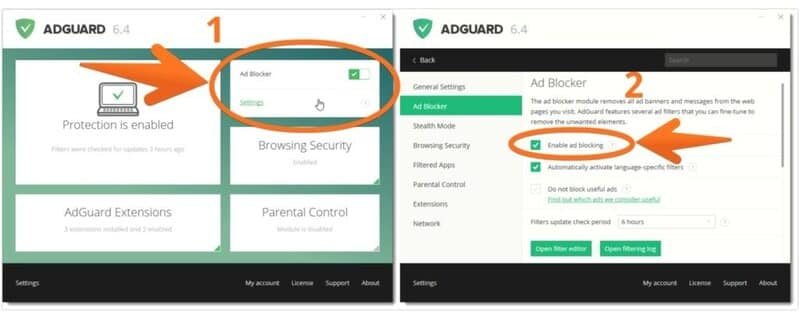 installing and using adguard