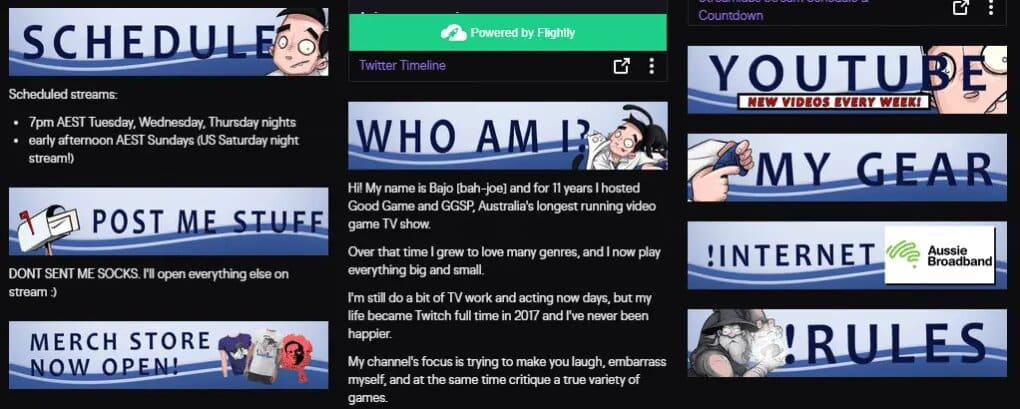 Twitch About Me Template