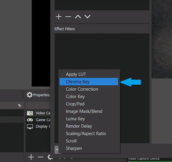 OBS green screen - Adding Chroma Key