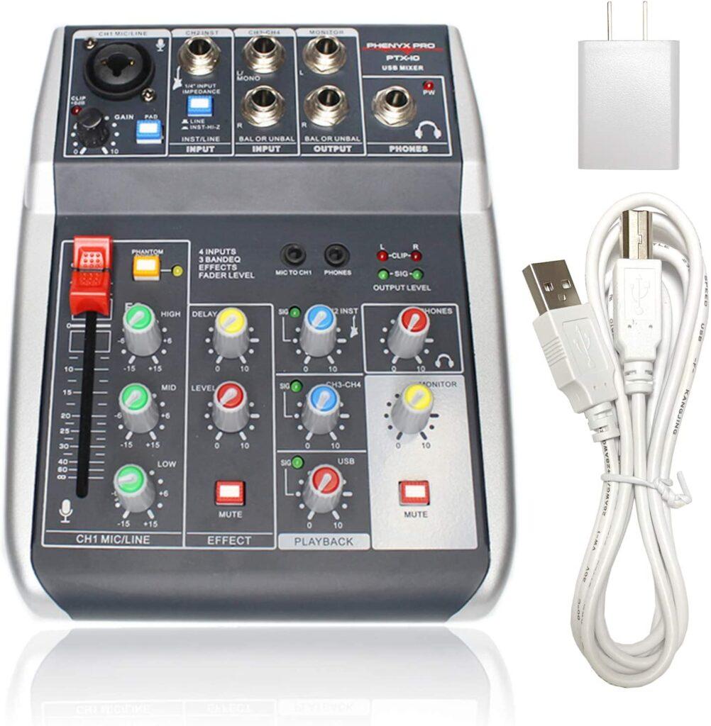 Phenyx Pro USB Audio Interface Mixer