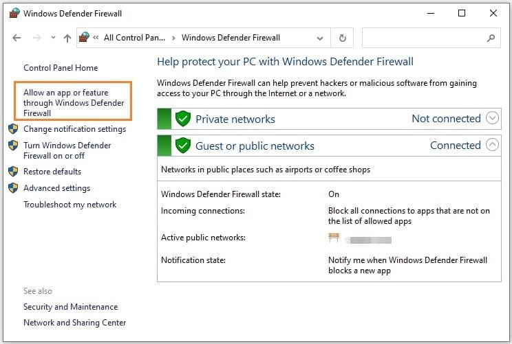 Whitelist Twitch within your Firewall's settings