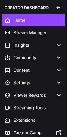 stream menu