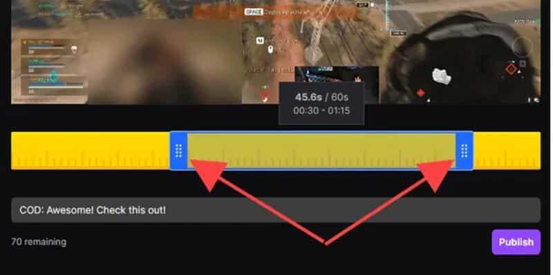 Twitch Clip pop-up window