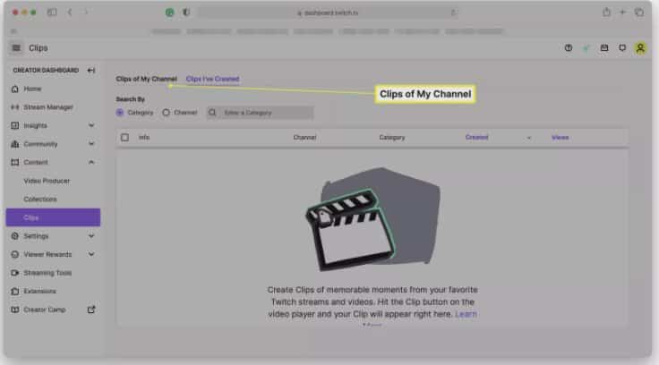 delete Twitch clips from followers
