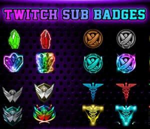 Twitch sub badges