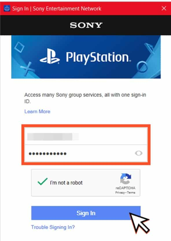 sign in to ps4 account