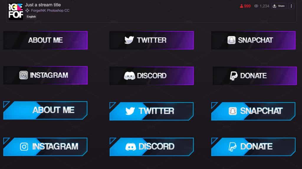 Twitch Panels Size