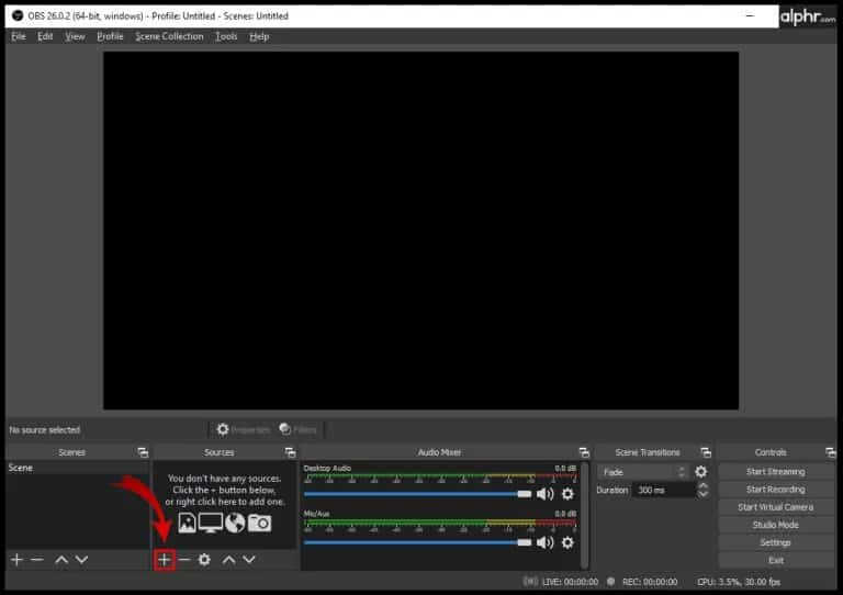 how you can start recording with OBS