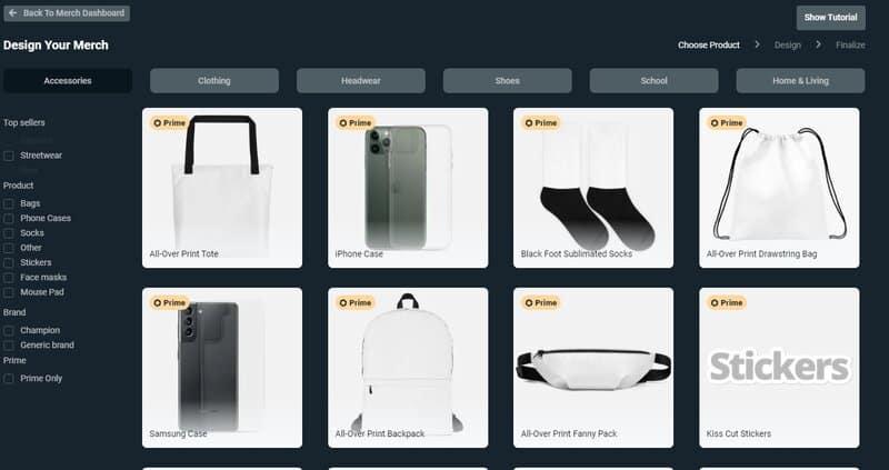 Streamlabs shop options