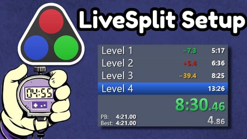 Using the LiveSplit Speedrun Timer in OBS